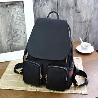 女士双肩包女包韩版潮尼龙牛津布旅行包时尚百搭日韩小背包 黑色1款