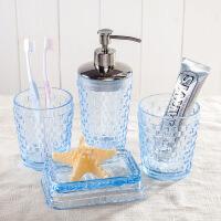创意欧式陶瓷卫浴五件套浴室用品套件卫生间刷牙杯结婚洗漱套装