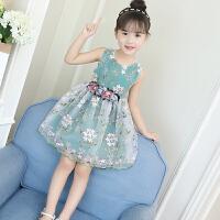 连衣裙新款夏装公主裙女童蓬蓬纱洋气裙子韩版女孩衣服潮