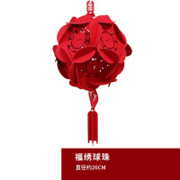 新年装饰用品春节无纺布大红灯笼挂饰过年室内户外布置吊件灯笼