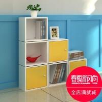 创意儿童书柜自由组合简易书架置物架组装实木质小柜子储物柜矮柜