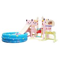 麦宝创玩 儿童滑梯秋千组合 室内宝宝儿童多功能卡通熊猫滑梯秋千球池组合玩具