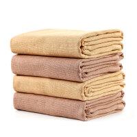 日本爱尚佳品洗脸毛巾纯棉2条吸水老粗布婴儿毛巾儿童方巾R1003