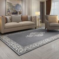 简欧客厅地毯茶几垫长方形防滑床边卧室地垫现代简约
