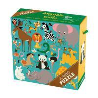 Animals of the World Jumbo Puzzle 英文原版 25块超大拼图:世界各地的动物 儿童启蒙