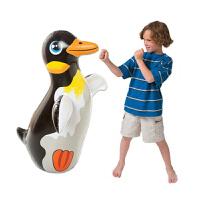 原装加厚充气不倒翁 儿童充气玩具拳击袋 高91CM环保安全 黑色鸭子(沙底)+小脚泵+修补包 44670