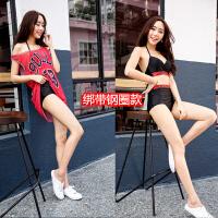 性感泳衣女分体平角比基尼三件套显瘦遮肚防晒罩衫韩国沙滩泳装女
