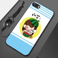苹果5手机壳A1723套ipone爱疯5se挂绳iph0ne5软A1528外壳iphone5s防摔壳