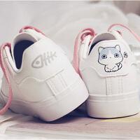 【支持礼品卡支付】夏季新款韩版学生小白鞋平底帆布鞋女百搭休闲鞋 BE-8028