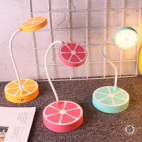 韩国创意可爱水果充电三档触摸开关调光护眼写字小夜灯阅读台灯