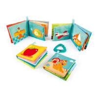 Hape婴儿智趣布书套装6个月以上婴幼玩具宝宝儿童玩具E8413