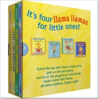 儿童英文绘本 Llama Llama Red Pajama Little Library 羊驼拉玛小小图书馆 纸板书4
