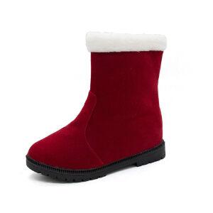 WARORWAR新品YM148-912冬季欧美磨砂反绒平底舒适女士雪地靴