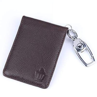 丰田汽车钥匙包新皇冠汉兰达钥匙包卡片式汽车专用智能钥匙套钥匙包钥匙壳 皇冠卡片式 棕色