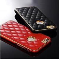 苹果6plus手机壳iphone6手机壳5.5苹果6手机壳4.7奢华真皮保护套 进口羊皮 +金属边框  高品质