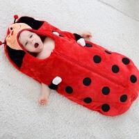 宝宝睡袋秋冬保暖防踢被新生儿童婴儿用品冬季加厚款蚕茧包裹睡袋