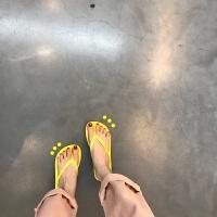 韩版chic人字拖女夏平底外穿软底防滑夹脚趾凉拖鞋海边沙滩鞋ins