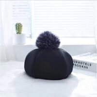 韩版儿童帽子秋冬3岁女宝宝时尚百搭贝雷帽4小孩毛呢料大毛球帽子 均码