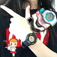 韩版韩版东大门情侣电子表学生男女潮运动糖果色手表时尚腕表