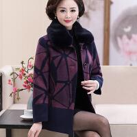 中年女秋装毛呢外套冬新款妈妈穿的短款中老年人羊绒呢子大衣
