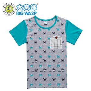 大黄蜂童装 2018男童夏季t恤短袖 休闲透气中小童男童 3-8岁