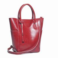 女包手提包新款欧美通勤包包女士单肩包百搭时尚纯色潮包 红色