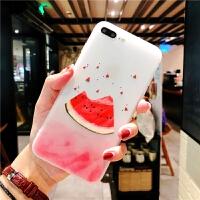 P苹果X手机壳iphone7西瓜XR网红XSMAX夏日8plus夏季iphoneXMax薄款6s磨砂