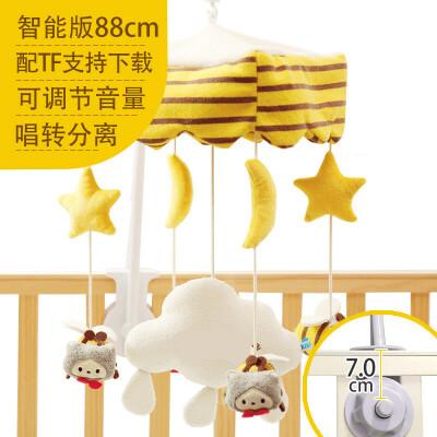 ?新生婴儿床铃音乐旋转摇铃0-3-6-12个月宝宝床头挂件布艺玩具?