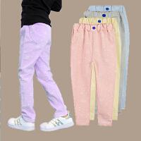 女童裤子春秋新款韩版外穿宽松薄款儿童女中大童休闲潮款女孩