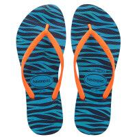 havaianas女款时尚细带人字拖Slim animals平底防滑豹纹哈瓦那拖鞋5210