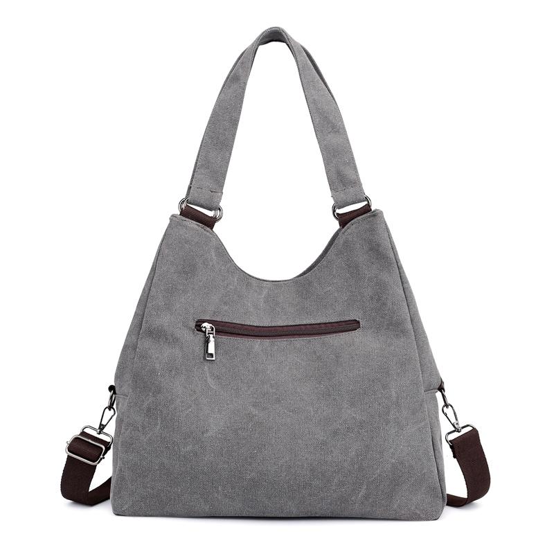 包包女2018新款帆布包女包手提单肩包斜挎包简约百搭大容量妈妈包