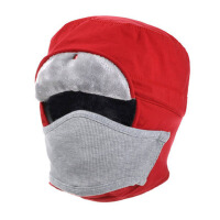 冬户外防寒帽 男女防水厚保暖帽 运动抓绒帽子 骑车防风帽头套面罩