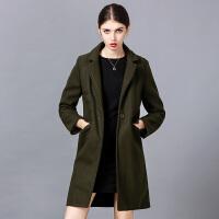毛呢外套女中长款呢子大衣女2018新款秋冬季韩版加厚修身学生韩国