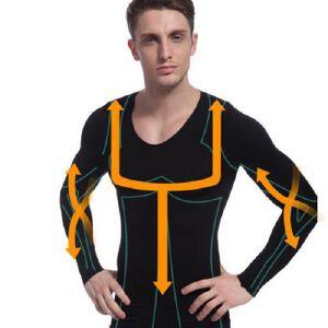 NY102 男士收腹束胸紧身 长袖 塑身内衣