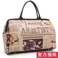 韩版手提旅行女行李大容量短途旅行袋健身男旅游行李袋潮