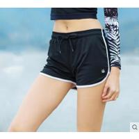 跑步短裤双层网眼快干透气抽绳运动裤女士运动跑步短裤热裤健身裤