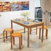 实木椅子家用餐椅现代简约实木矮凳创意椅子可叠放座椅客厅小凳子