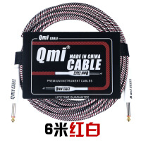 Qmi电吉他连接线3米6米10米20米音频线音箱贝司电箱木屏蔽降噪线