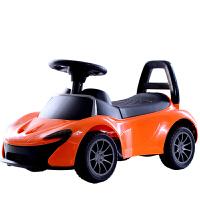 儿童滑行车四轮溜溜车带音乐1-3-5岁婴儿学步玩具车扭扭车 迈凯伦橙色 音乐灯光+靠背