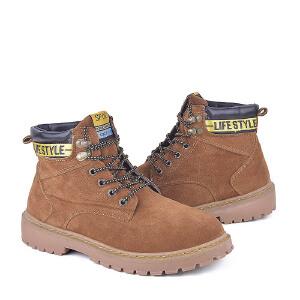 男式 男潮鞋马丁靴男短靴子革面英伦工装沙漠大黄靴
