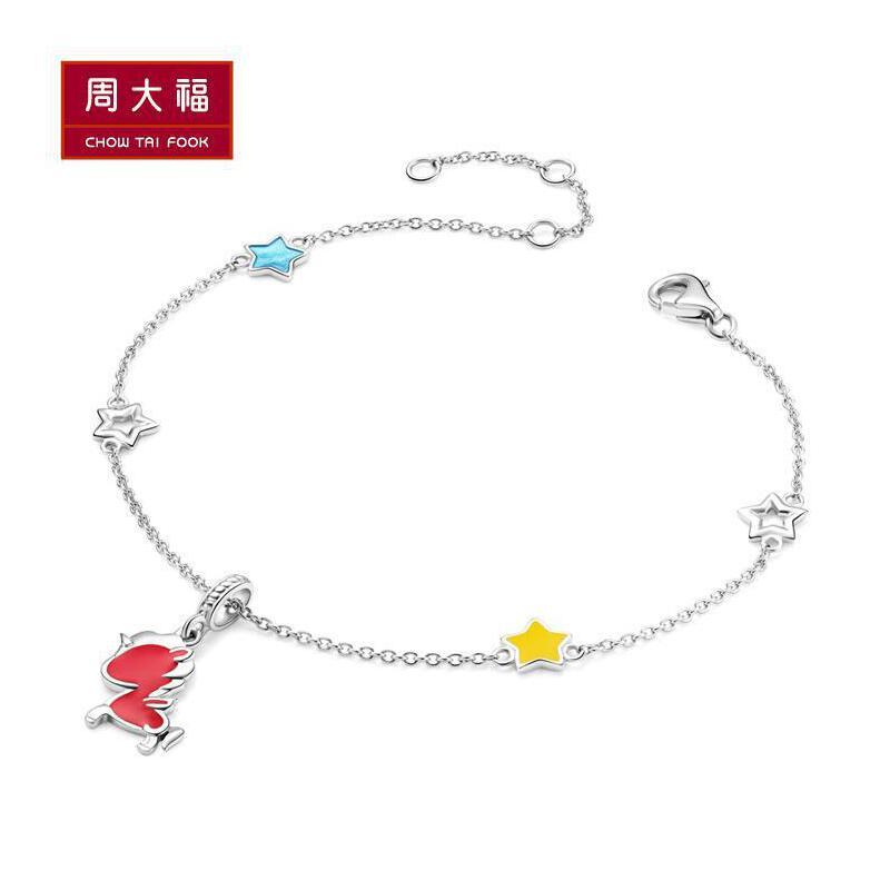 周大福 珠宝首饰tokidoki独角兽系列925银手链 AB38691>>定价先领券后购物,全场可用礼品卡