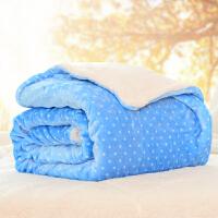 珊瑚绒毯仿羊羔绒毛毯被子加厚保暖双层盖毯冬季单人双人毛绒床单