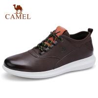 camel骆驼男鞋 秋季新品休闲真皮牛皮鞋时尚复古运动风轻盈鞋