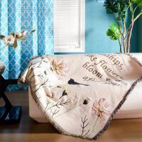 0722085938888新品欧式田园沙发巾沙发毯美式乡村全棉沙发垫飘窗垫盖巾桌布