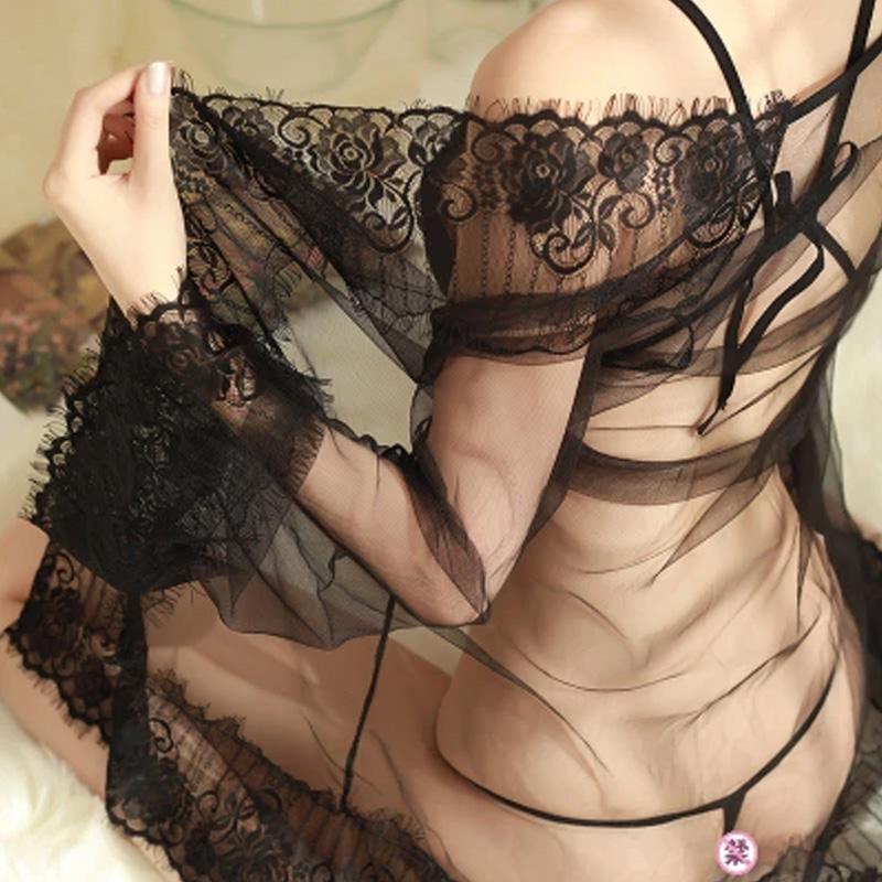 情趣内衣开裆露乳三点式睡裙透视装三件套性感睡衣激情套装sm骚保密发货