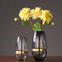 透明玻璃花瓶摆件家居装饰品餐桌台面插花花器客厅电视柜水培花瓶花瓶花艺摆件