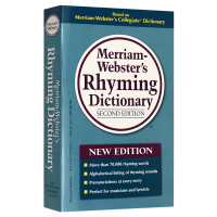 韦氏韵律字典 英文原版 Merriam Webster's Rhyming Dictionary 英文版韦氏英英词典 韵
