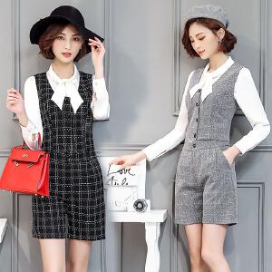 风轩衣度 套装/套裙韩版显瘦长袖圆领百搭时尚2018年春季新款 2316