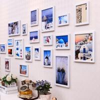 欧式黑白经典照片墙相框墙 客厅创意相册相框组合地中海相片墙