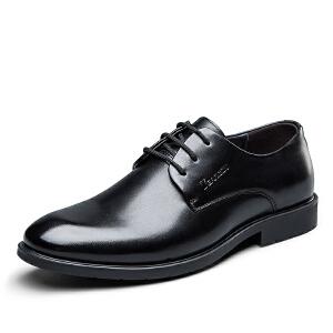 意尔康男鞋商务正装皮鞋系带绅士皮鞋婚鞋皮鞋男鞋